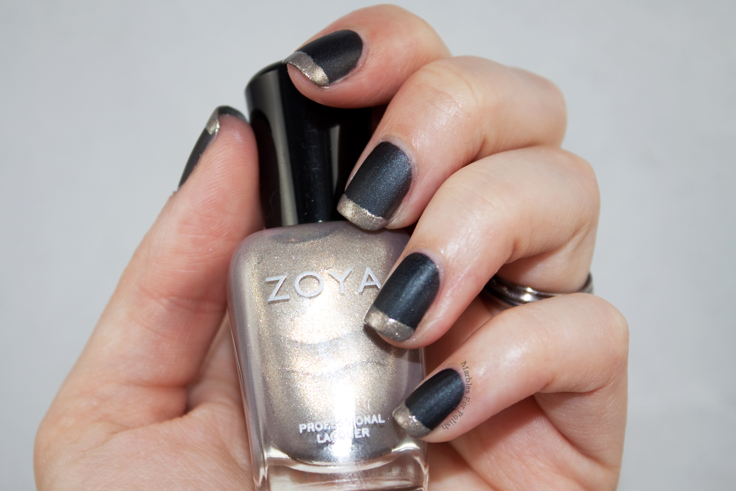 Black and Gold French   Marbles For Polish